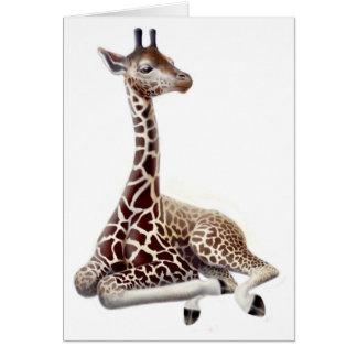 Resting Giraffe Card