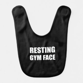 Resting Gym Face Baby Bibs