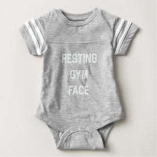 Resting Gym Face Baby Bodysuit