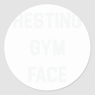 Resting Gym Face Classic Round Sticker