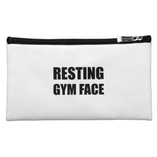 Resting Gym Face Cosmetic Bag