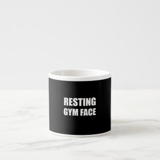 Resting Gym Face Espresso Cup