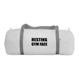 Resting Gym Face Gym Bag