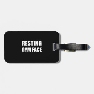 Resting Gym Face Luggage Tag