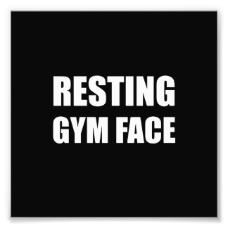 Resting Gym Face Photo Print