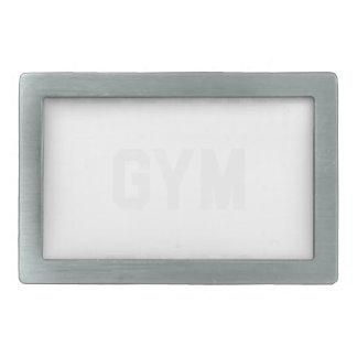 Resting Gym Face Rectangular Belt Buckle