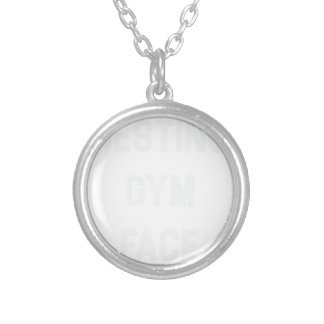 Resting Gym Face Silver Plated Necklace