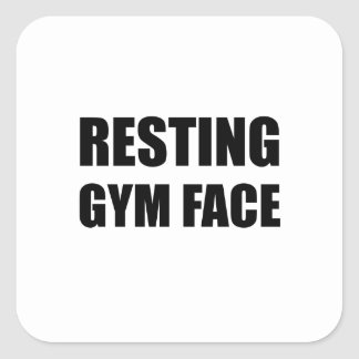 Resting Gym Face Square Sticker