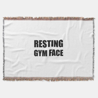 Resting Gym Face Throw Blanket