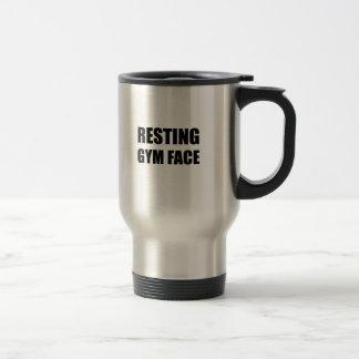 Resting Gym Face Travel Mug
