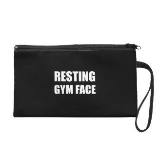 Resting Gym Face Wristlet