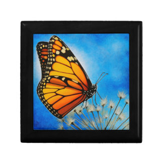 Resting Monarch butterfly gift box