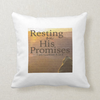 """Resting On His Promises Throw Pillow"" Throw Pillow"