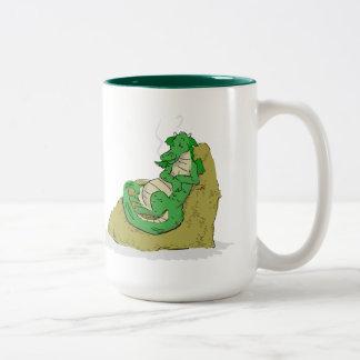 Resting on the loot Two-Tone coffee mug