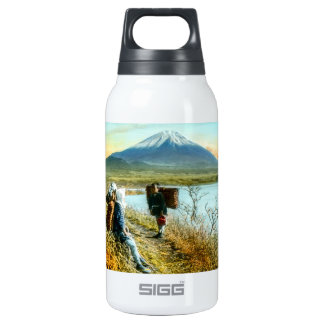 Resting on the Roadside to Mt. Fuji Vintage Insulated Water Bottle