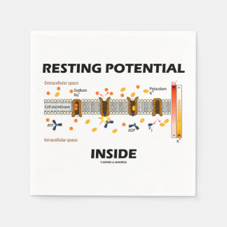 Resting Potential Inside Active Transport Humor Paper Napkins