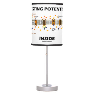 Resting Potential Inside Active Transport Humor Table Lamp