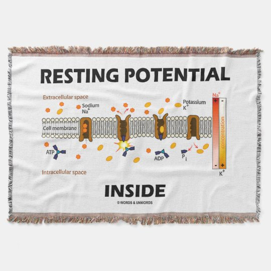 Resting Potential Inside Active Transport Humour Throw Blanket