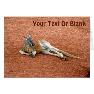 Resting Red Kangaroo Buck Card