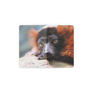 Resting Red Ruffed Lemur Pocket Moleskine Notebook