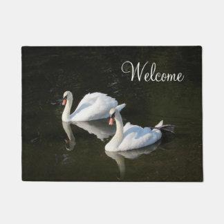Resting Swans Doormat