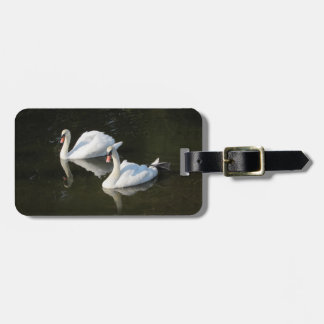 Resting Swans Luggage Tag