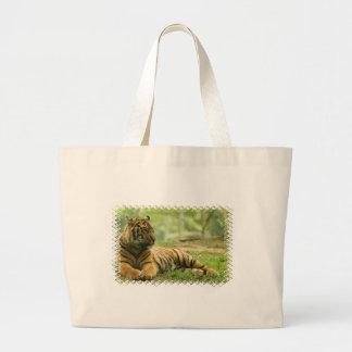 Resting Tiger  Canvas bag