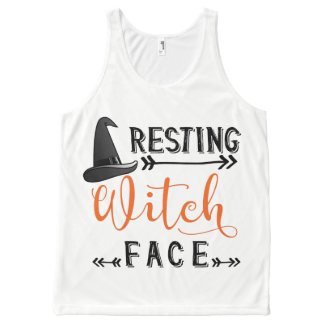 resting witch face All-Over-Print tank top