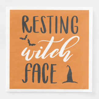 RESTING WITCH FACE DISPOSABLE NAPKINS