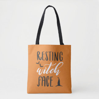 RESTING WITCH FACE-- OPPOSITES ATTRACT TOTE BAG