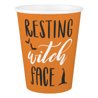 RESTING WITCH FACE PAPER CUP