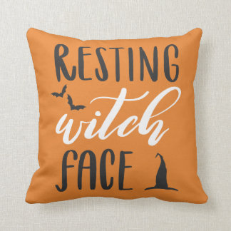 RESTING WITCH FACE THROW PILLOW