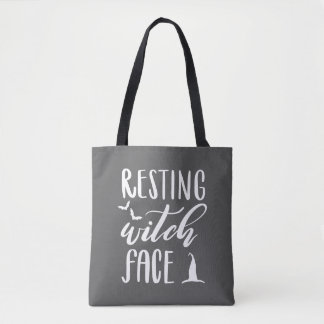 RESTING WITCH FACE TOTE BAG