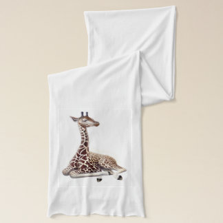 Resting Young Giraffe Scarf