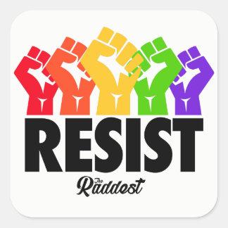 RESTIST, GAY PRIDE SQUARE STICKER