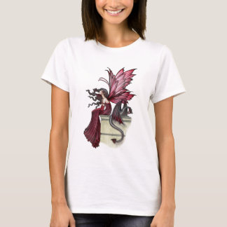 Restless Ruby Gothic Red Fairy and Dragon T-Shirt