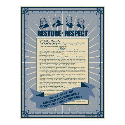 Restore And Respect The Constitution Print
