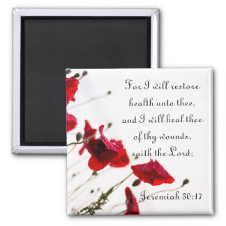 Restore Health and Heal Thee of Thy Wounds Square Magnet