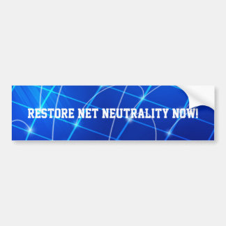 Restore Net Neutrality Now! Bumper Sticker