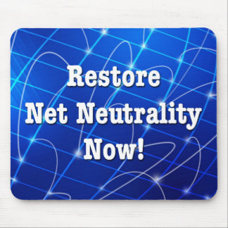 Restore Net Neutrality Now! Mouse Pad