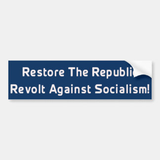 Restore Republic Bumper Sticker