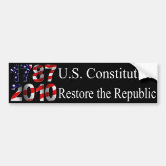 Restore the Republic bumper sticker