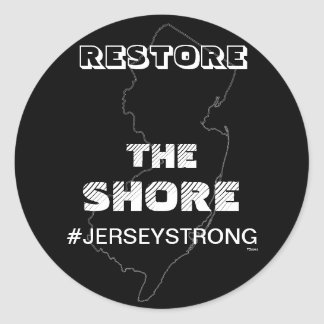 RESTORE THE SHORE - JERSEY STICKER