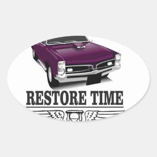 restore time oval sticker