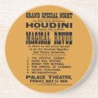 Restored 1914 Harry Houdini yellow billboard Coaster