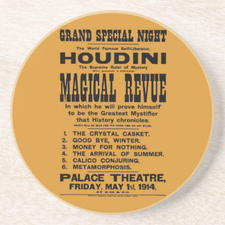 Restored 1914 Harry Houdini yellow billboard Coaster