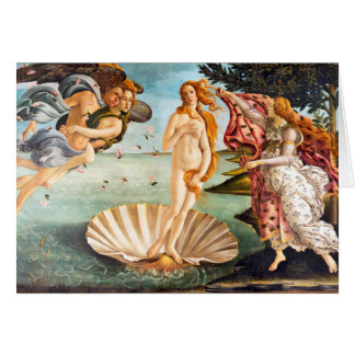 Restored and Recolored Botticelli Birth of Venus Card