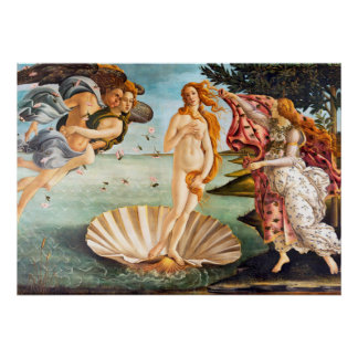 Restored and Recolored Botticelli Birth of Venus Poster