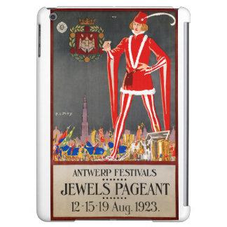Restored Belgium Antwerp Vintage Travel Poster iPad Air Case