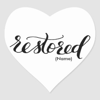 Restored Custom Heart Sticker